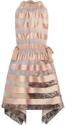 Fendi - Tie-back Striped Satin Mini Dress - Pastel pink $2,650 thestylecure.com