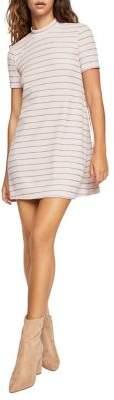 BCBGeneration Striped Mockneck Dress