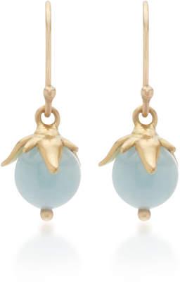 Annette Ferdinandsen Berries 18K Gold And Aquamarine Drop Earrings