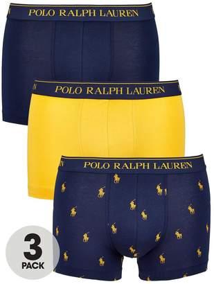 Polo Ralph Lauren 3pk Print/Plain Trunk