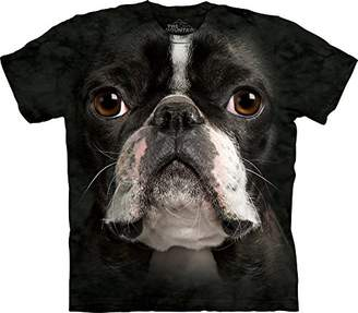 The Mountain Adult 100% Cotton Boston Terrier Realistic T-Shirt ()