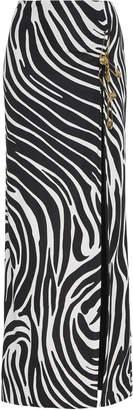 Versace Side Slit Crepe Maxi Skirt