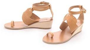 Ancient greek sandals Klyemnestra Demi Wedge Sandals