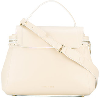 Twin-Set zip detail tote $301.43 thestylecure.com