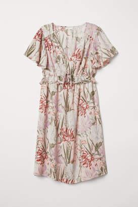 H&M MAMA Ruffle-trimmed Dress - Pink