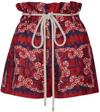 Valentino Silk High-Waist Shorts