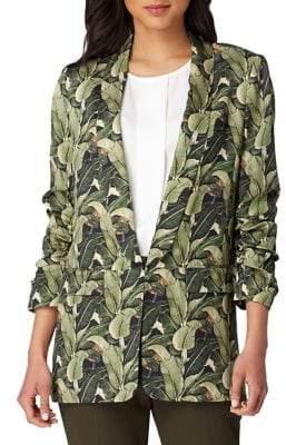 Tahari Arthur S. Levine Printed Scrunch Sleeve Jacket