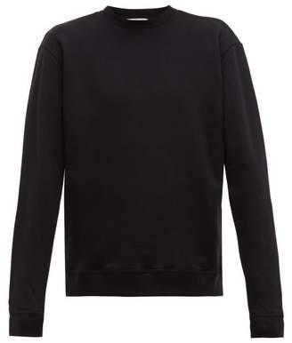 John Elliott Oversized Loop Back Cotton Jersey Sweatshirt - Mens - Black