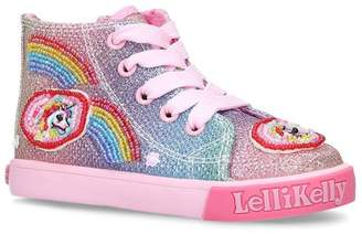 Lelli Kelly Kids Rainbow Sparkle High-Top Sneakers