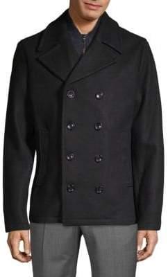 Michael Kors Stretch Wool Peacoat