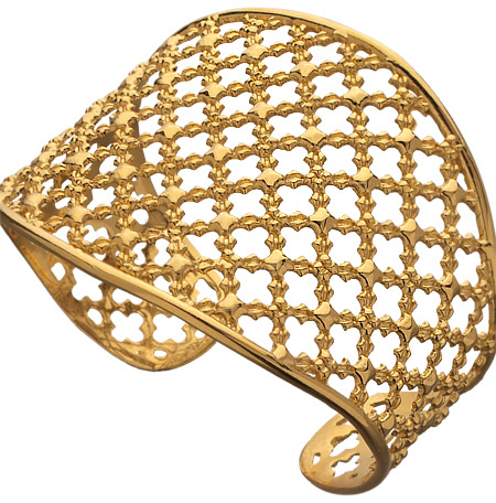 Jessica Elliot Gold Wrought Iron Cuff