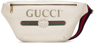 Gucci Print leather belt bag