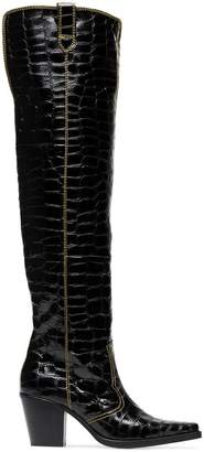 Ganni nadine 75 thigh high boots