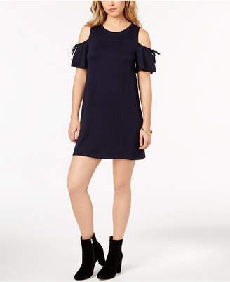 Kensie Cold-Shoulder Shift Dress