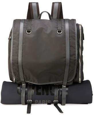 Givenchy Nylon Camper Rucksack Bag/Backpack with Logo, Black
