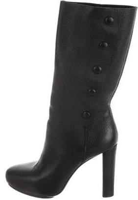 Balenciaga Leather High Heel Boots