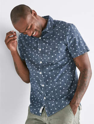 Lucky Brand Ditsy Print One Pocket Shirt