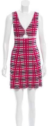 Thakoon Knit Plaid Dress