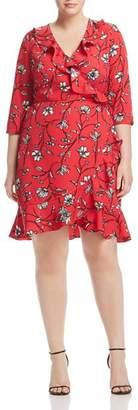 Junarose Plus Miriaz Floral-Print Wrap Dress