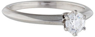 Tiffany & Co. Platinum Diamond Engagement Ring $1,990 thestylecure.com