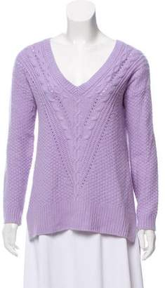 Autumn Cashmere Cable-Knit V-Neck Sweater