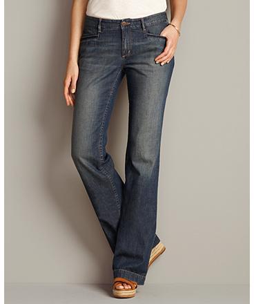 Eddie Bauer Slightly Curvy Lightweight Jeans