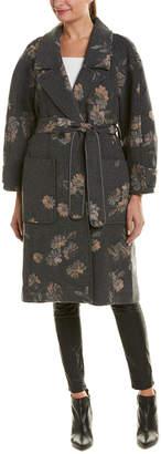 Rebecca Taylor Jacquard Wool-Blend Coat