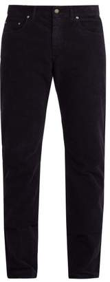 Bottega Veneta Straight Leg Corduroy Trousers - Mens - Dark Navy