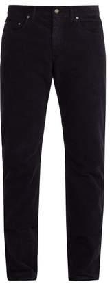 Bottega Veneta Straight Leg Corduroy Trousers - Mens - Dark Navy