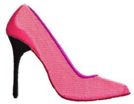 Logophile Embroidered High Heel Pump Patch $12 thestylecure.com