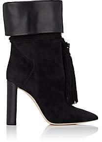 Saint Laurent Women's Tanger Suede Ankle Boots - Black
