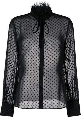 Class Roberto Cavalli dot sheer blouse