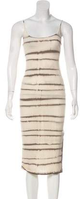 Raquel Allegra Sleeveless Tie-Dye Midi Dress