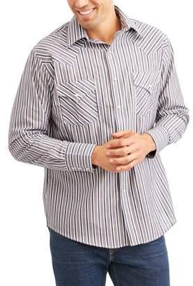 Plains Men's Long Sleeve Stripe Western Shirt
