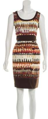 Lafayette 148 Sleeveless Printed Dress Brown 148 Sleeveless Printed Dress