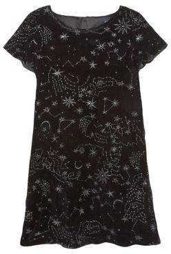 Andy & Evan Little Girls' Galaxy Embroidered Shift Dress