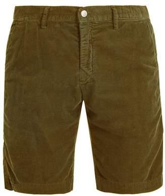 Massimo Alba Straight Leg Cotton Corduroy Shorts - Mens - Green