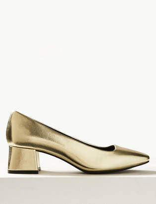 Marks and Spencer Square Toe Court Shoes