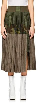 Sacai Women's Pleated Tiered Skirt
