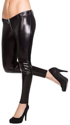 Coquette Women's Darque Wet Look Pants