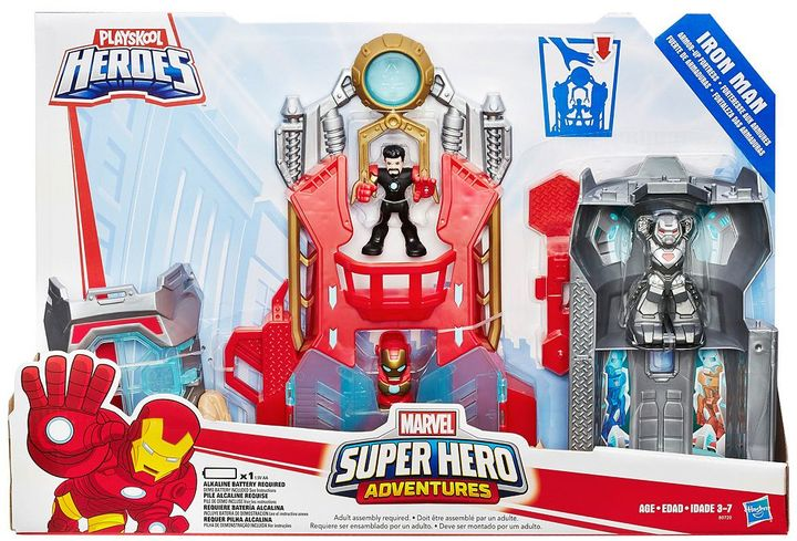 Hasbro Playskool Heroes Marvel Super Hero Adventures Iron Man Armor-Up Fortress by Hasbro