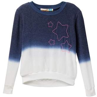 Vintage Havana Embroidered Star Dip Dye Hacchi Pullover (Big Girls)