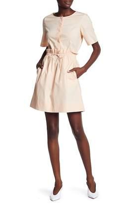 Club Monaco Senella Ruffled Waist Dress