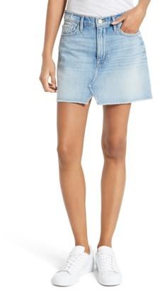 Women's Frame Le Mini Split Front Denim Skirt $205 thestylecure.com