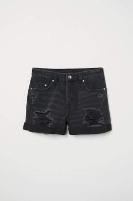 H&M Denim Shorts Boyfriend - Black