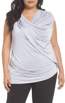 Vince Camuto Asymmetrical Twist Liquid Top