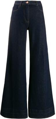 PT05 wide leg denim jeans