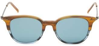 Tomas Maier Round Stripe Mirrored Sunglasses