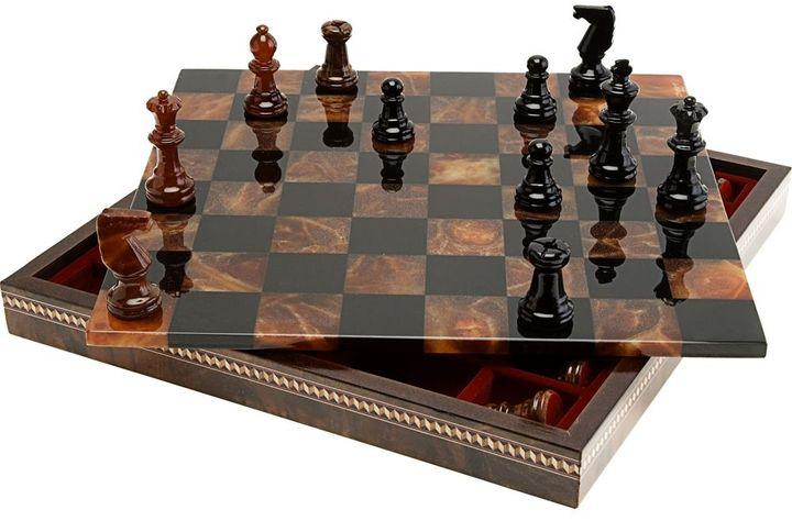 Chiellini Chess Set- Black / Brown