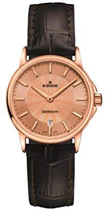 Edox Women's 'Les Bémonts' Swiss Quartz Stainless Steel and Leather Dress Watch
